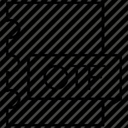 font, opentype, otf icon