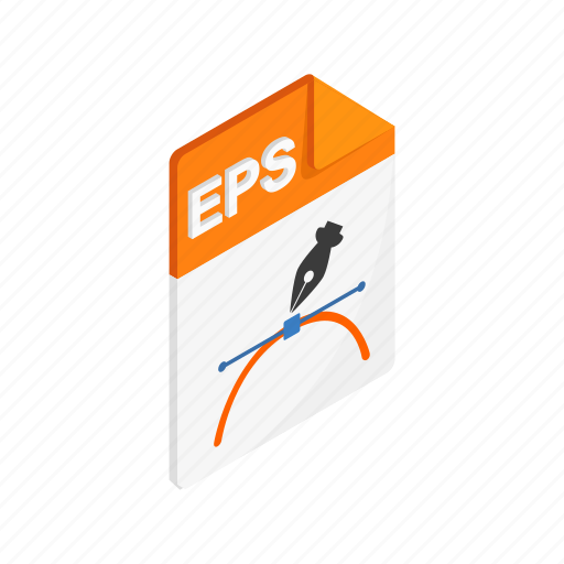 document, eps, file, format, isometric, sign, type icon