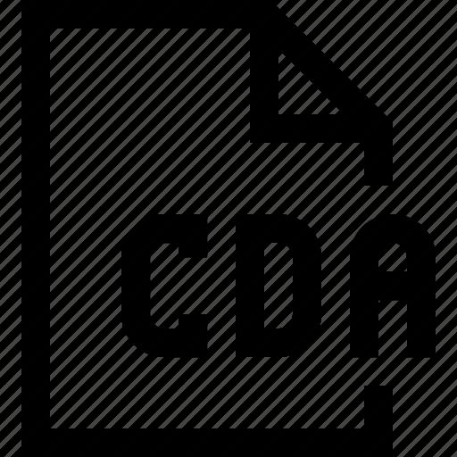 cda, document, file icon