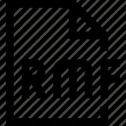 document, file, rmf icon