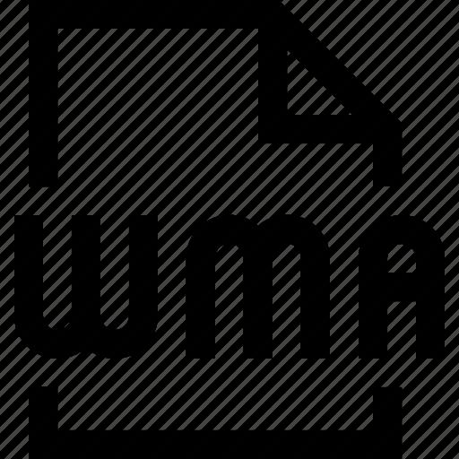 document, file, wma icon