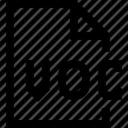 document, file, voc icon