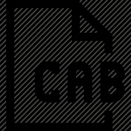 cab, document, file icon