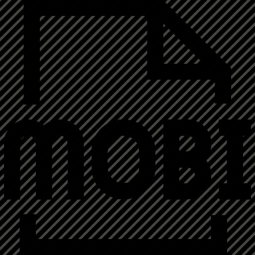 document, file, mobi icon