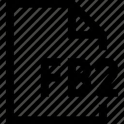 document, fb2, file icon