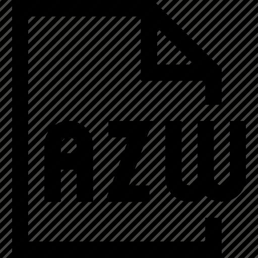azw, document, file icon