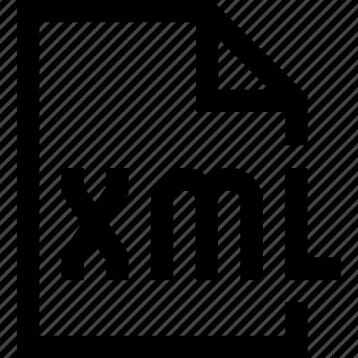 document, file, xml icon