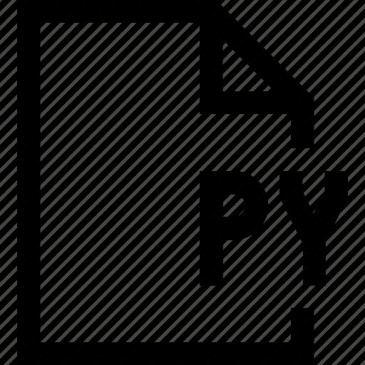 document, file, py icon