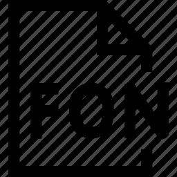 document, file, fon icon