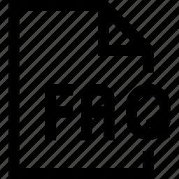 document, faq, file icon