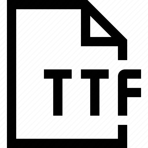 document, file, ttf icon
