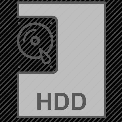 hard disc, hdd, part, storage icon