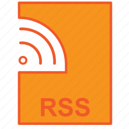 file, news, notification, push, rss icon