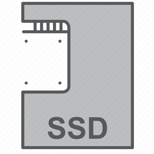 flash, part, ssd, storage icon
