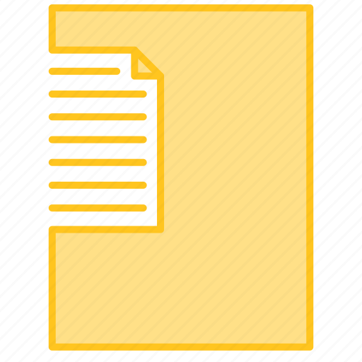 file, letter, notebook, notice icon
