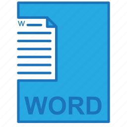 file, letter, office, word icon