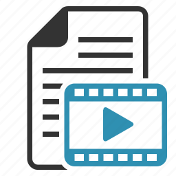 avi, document, file, film, format, movie, page, video icon