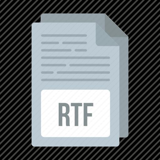 document, extensiom, file, format, rtf, rtf icon icon