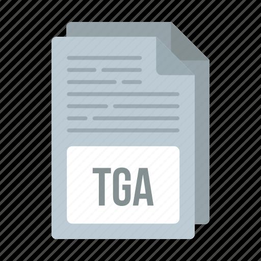 document, extensiom, file, format, tga, tga icon icon