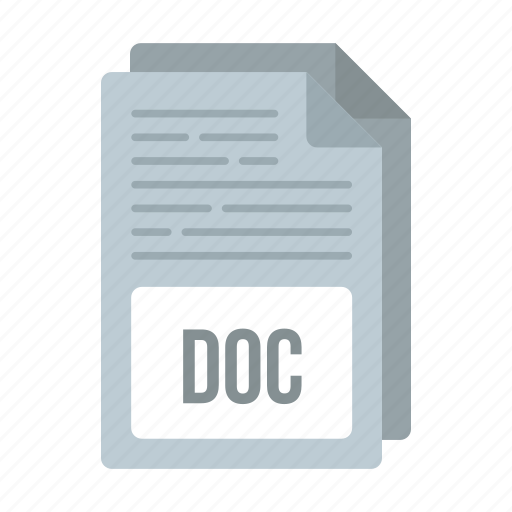 doc, doc icon, document, extensiom, file, format icon