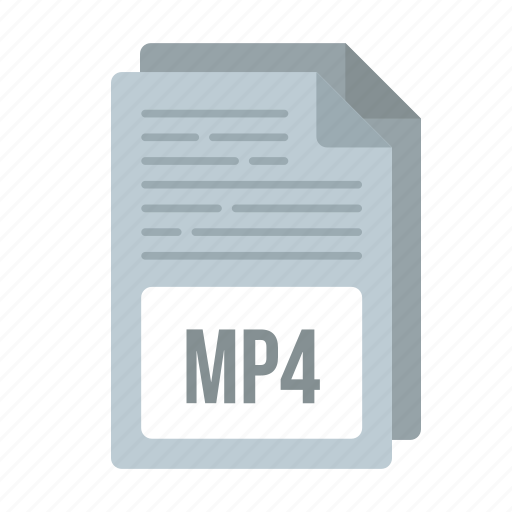 document, extensiom, file, format, mp4, mp4 icon icon