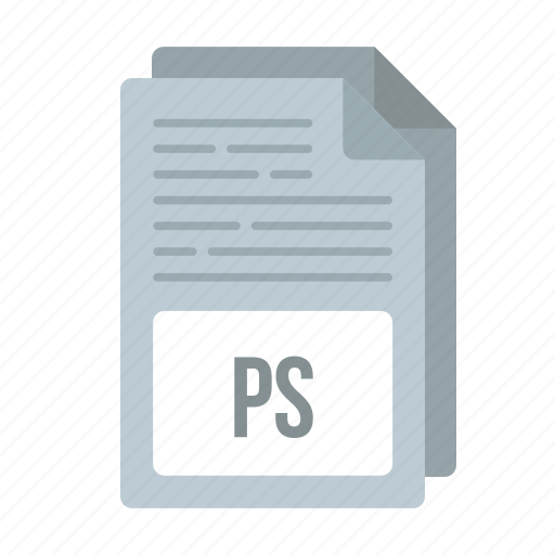 document, extensiom, file, format, ps, ps icon icon