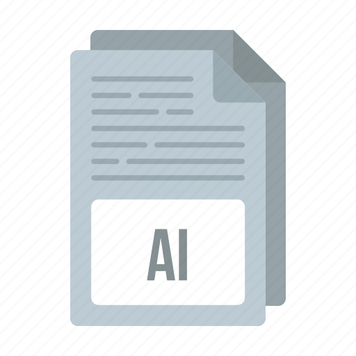 ai icon, document, extensiom, file, format icon