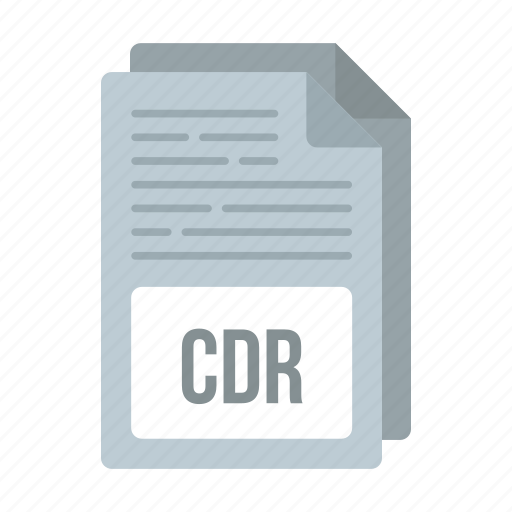 cdr, cdr icon, document, extensiom, file, format icon