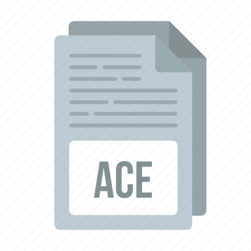 ace, ace icon, document, extensiom, file, format icon