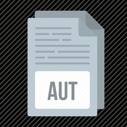 aut, aut icon, document, extensiom, file, format icon
