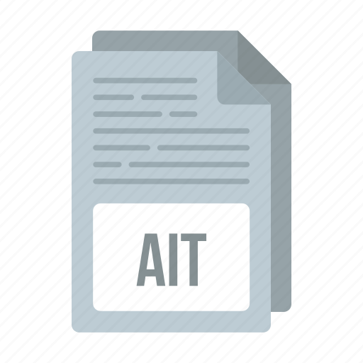ait, ait icon, document, extensiom, file, format icon