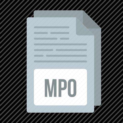 document, extensiom, file, format, mpo, mpo icon icon