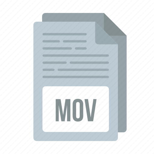 document, extensiom, file, format, mov, mov icon icon