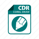 cdr, coreldraw, file, icon2, types icon