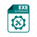 exe, extension, file, icon2, types icon