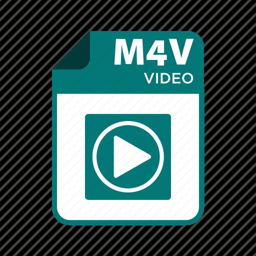 file, icon2, m4v, types, video icon