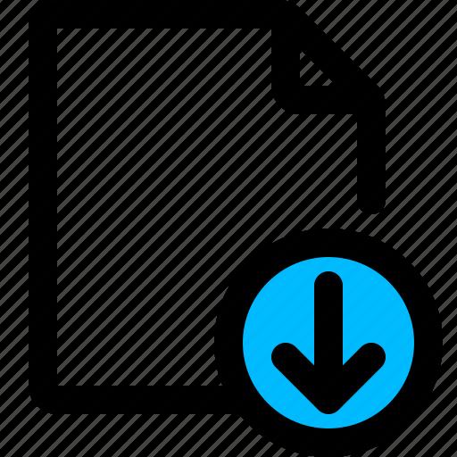 document, download, file, pdf icon