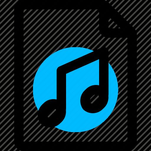 audio, file, mp3, music icon