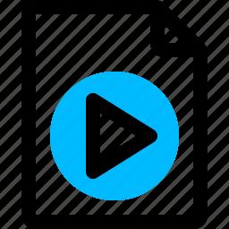 video clip, video document, video file icon