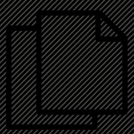 copy file, document, duplicate file, file, files, multiple files, paper icon