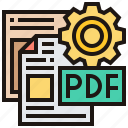 converter, file, format, pdf, type icon