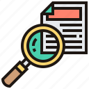 find, review, search, solution, zoom icon