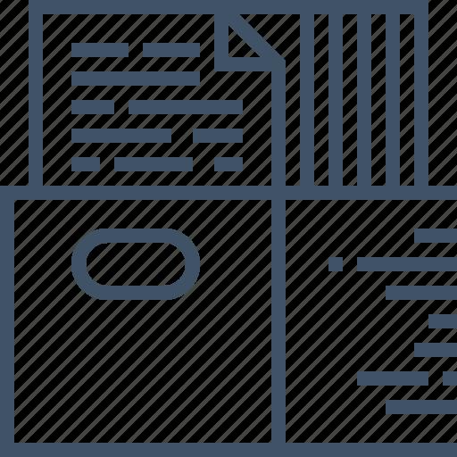 archive, batch, document, files, management, paper, processing icon