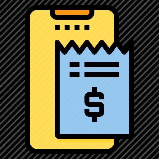 bill, document, file, folder, office, paper icon