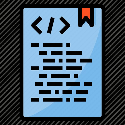 document, file, folder, office, paper, xml icon