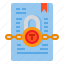 document, confidential, file, office, paper, folder icon