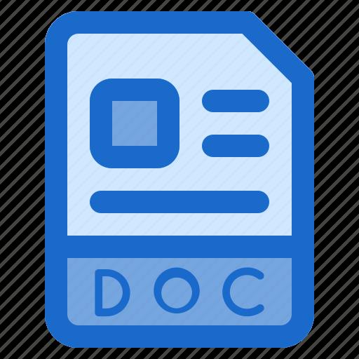 doc, document, file, folder, format icon
