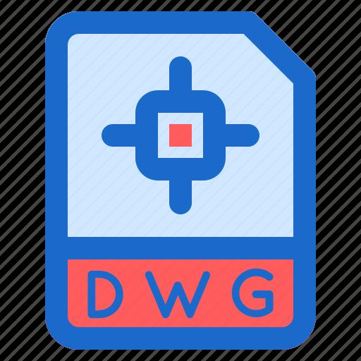 document, dwg, file, folder, format icon