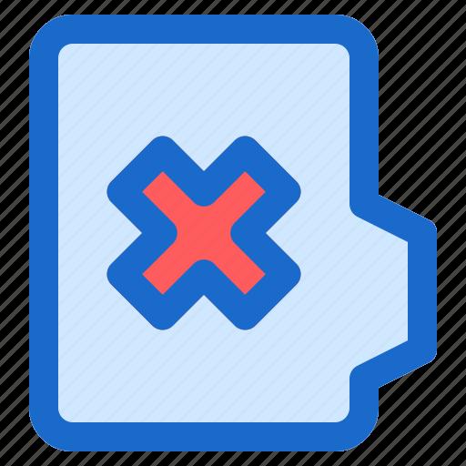 alt, cross, document, file, folder, format icon