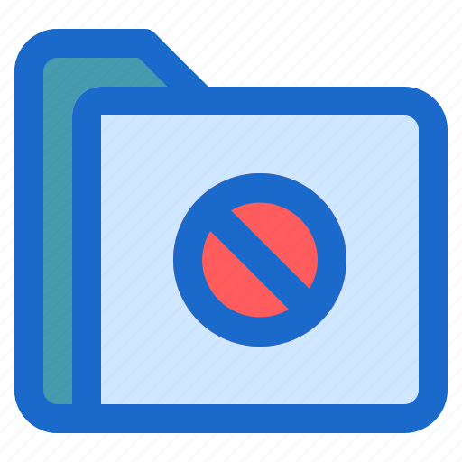 document, file, folder, forbidden, format icon